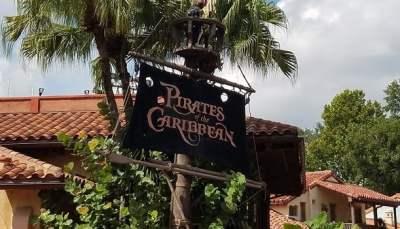 disney world pirates of the Caribbean ride talking skull