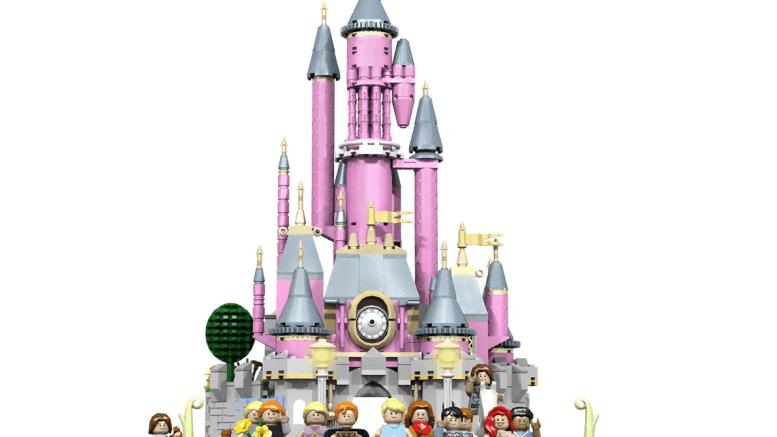 sleeping beauty castle lego set