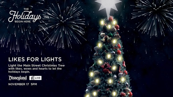 disneyland christmas tree facebook live stream - Disneyland In Christmas