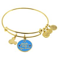 Snow White ''Whistle While You Work'' Bangle by Alex and Ani (blue)