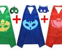 PJ Masks Costumes For Kids Set of 3 Catboy Owlette Gekko Mask with Capes