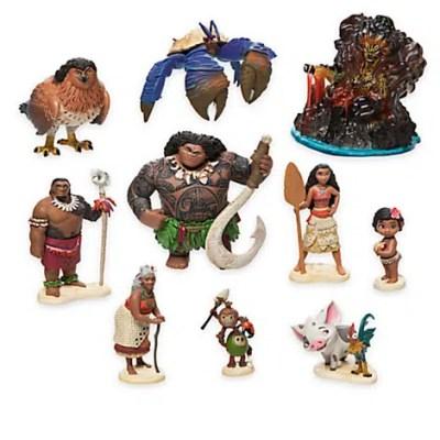 Disney Moana Action Figures (10-Piece Set)