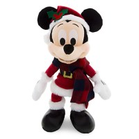 Santa Mickey Mouse Stuffed Animal Retro Plush - 9''