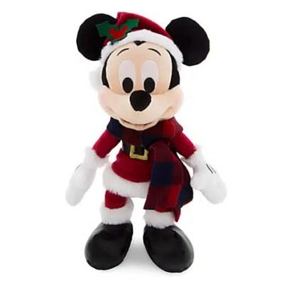 "Santa Mickey Mouse Stuffed Animal Retro Plush – 9"""