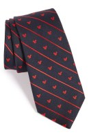Disney Striped Silk Mickey Mouse Tie