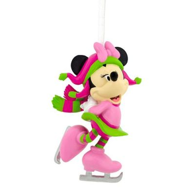 Minnie Mouse Ice Skating Christmas Ornament