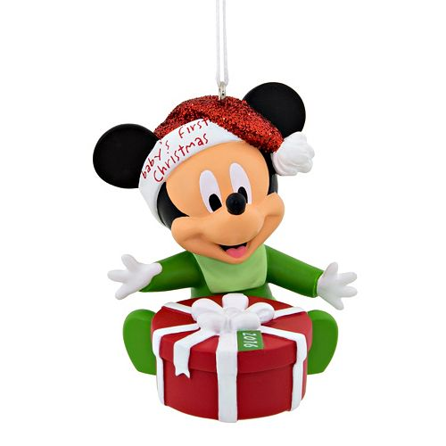 mickey mouse babys first christmas ornament 2016