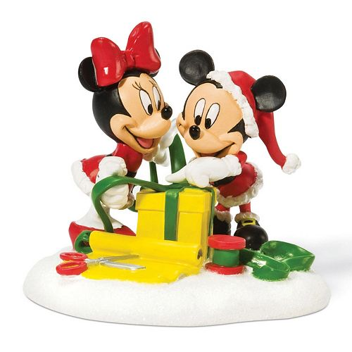 disneys mickey minnie mouse wrapping gifts christmas decoration - Mickey And Minnie Christmas Decorations