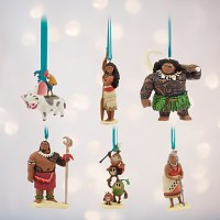 Disney Moana Christmas Ornament Set (6 Character Set)