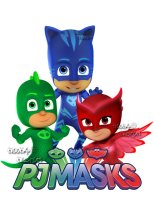 PJ Masks Wall Decals (Owlette, Catboy and Gekko)
