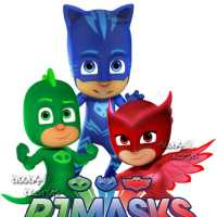 PJ Masks Wall Decals (Owlette, Catboy and Gekko)