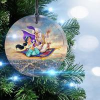 Disney Aladdin Glass Christmas Ornament