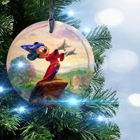 Disney Fantasia Glass Christmas Ornament