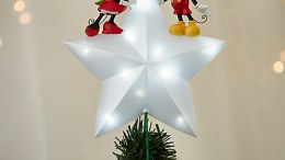 Mickey and Minnie Mouse Light-Up Christmas Tree Topper