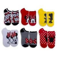 Disney Women's Minnie Mouse Low-Cut Socks (6-Pack)