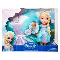 Disney Frozen Elsa Doll and Costume Dress Combo