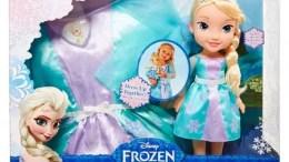 Disney Frozen Elsa Doll and Costume Dress Combo