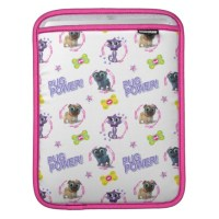 Puppy Dog Pals iPad Sleeve (Pug Power Pattern)