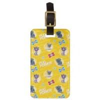 Puppy Dog Pals Luggage Tags (Pug Power Yellow Pattern)