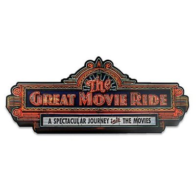 The Great Movie Ride Wall Sign