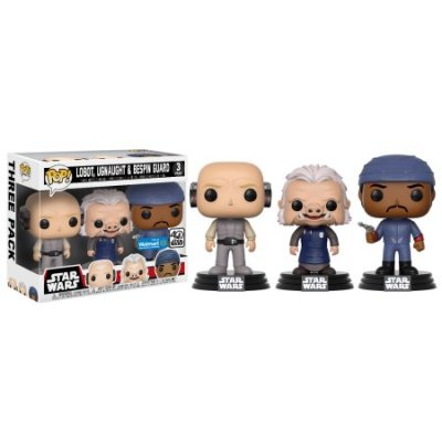 Star Wars Cloud City 3 Pack, Lobot, Ugnaught, Bespin Guard Funko Pop!