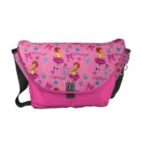 Fancy Nancy Courier Bag | Magnifique Pink Pattern