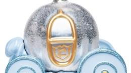 Cinderella Pumpkin Carriage Glass Christmas Ornament