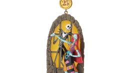 Jack Skellington and Sally Sketchbook Christmas Ornament