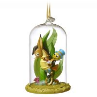 Jiminy Cricket Glass Dome Sketchbook Christmas Ornament
