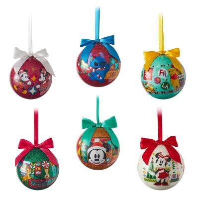 World of Disney Ball Christmas Ornament Set