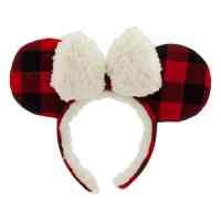 Minnie Mouse Plaid Holiday Ears   Disney Christmas