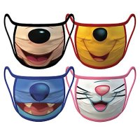 Disney Icon Mouths Face Masks 4-Pack | Disney Face Masks