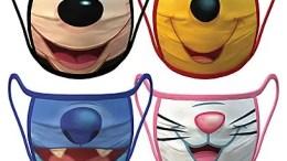 Disney Icon Mouths Face Masks 4-Pack | Disney Face Masks