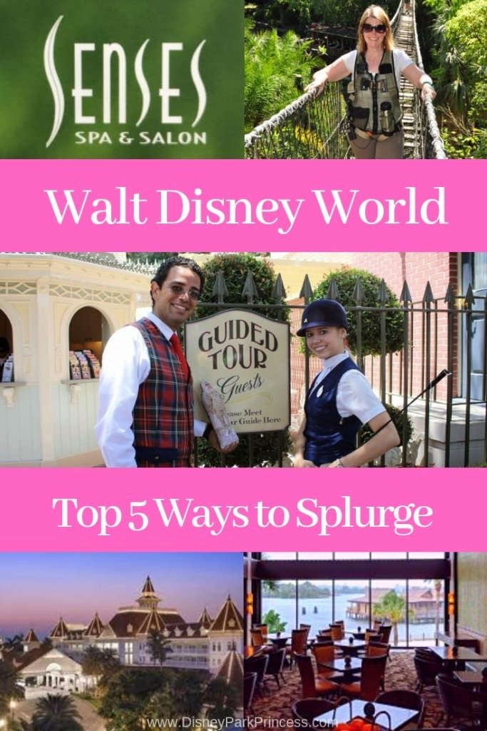 Learn the Top 5 Ways to Splurge at Walt Disney World! Spoil yourself on vacation by indulging in the finer things Disney has to offer. #disneyworld #splurge #vacation