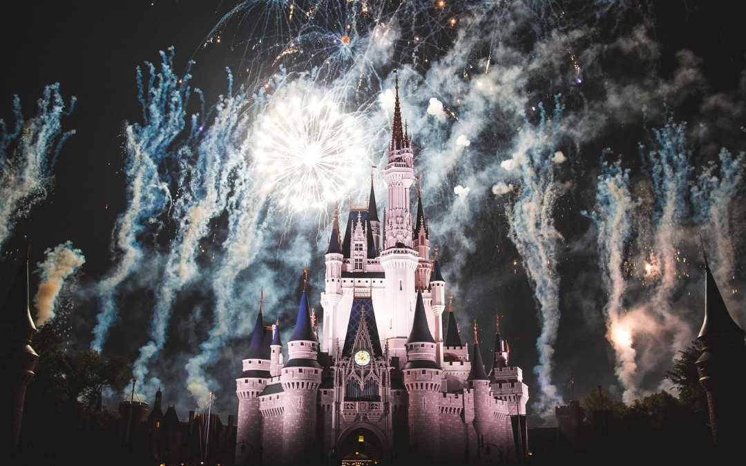 walt disney world castle fireworks