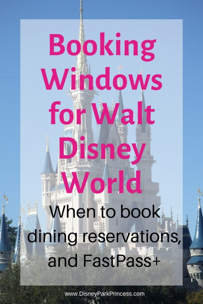 Walt Disney World - When to book Dining Reservations and FastPass+