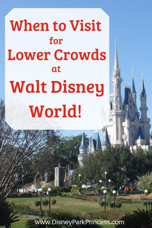 Crowds are a reality at Walt Disney World but there ARE times to visit when the crowds are lower! Learn how we decide when to vsit Walt Disney World for lower crowd levels. #disneyworld #waltdisneyworld #planning