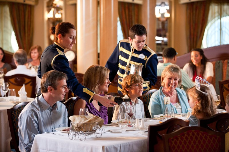 Disney Cruise Line Royal Palace Dining Room Photo courtesy of Disney