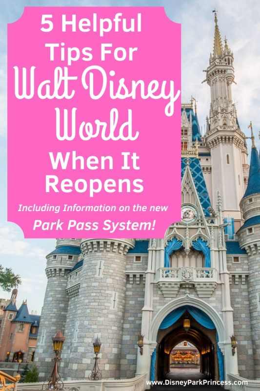 Walt Disney World will look a little different when it reopens! Learn our Top 5 Helpful Tips for enjoying your Disney vacation now. Including information on the new Disney Park Pass System! #disneyparkpass #disneyparks #waltdisneyworld #disneyland #disneyplanning #disneyplanningtips #disneyparksreopen