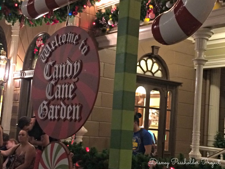 Candy Cane Garden - Christmas at Magic Kingdom