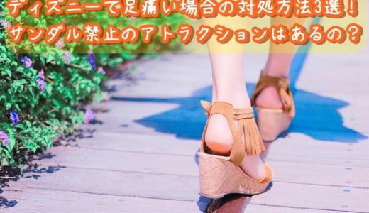 ディズニーで足痛い場合の対処方法3選!サンダル禁止のアトラクションはあるの?