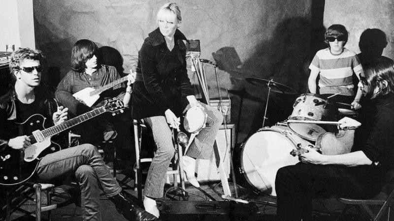 The Velvet Underground recording a song