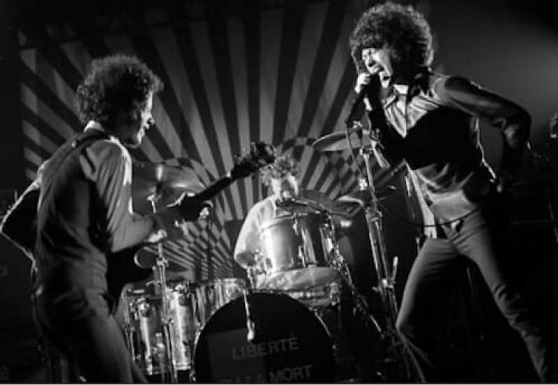 Omar and Cedric from The Mars Volta playing live on stage