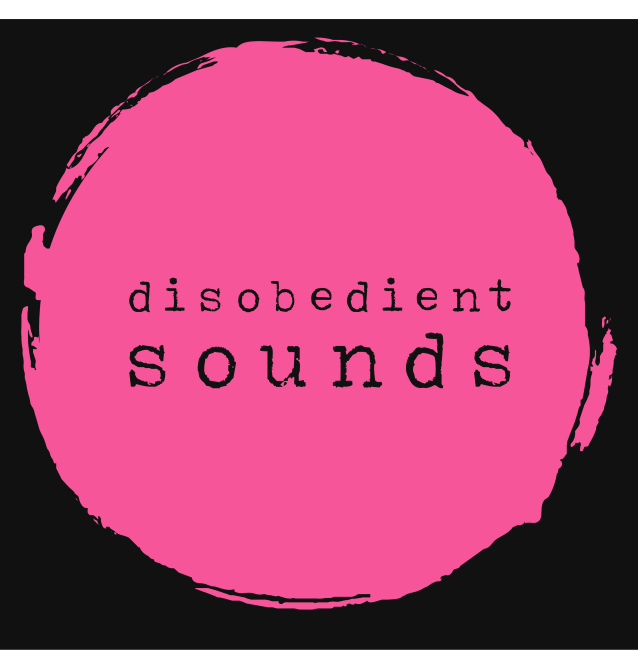 Disobedient Sounds logo in pink