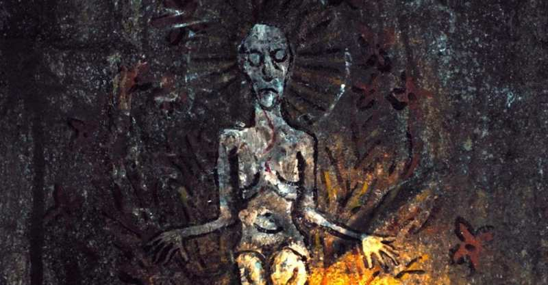 cave painting of mother nature in apostle