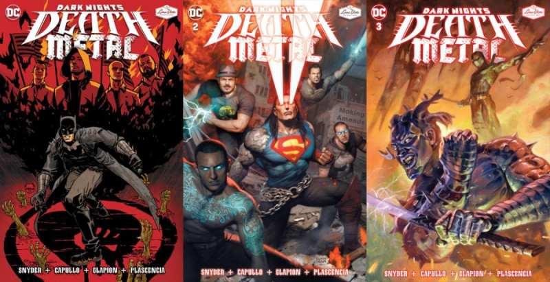 dark nights death metal comic covers