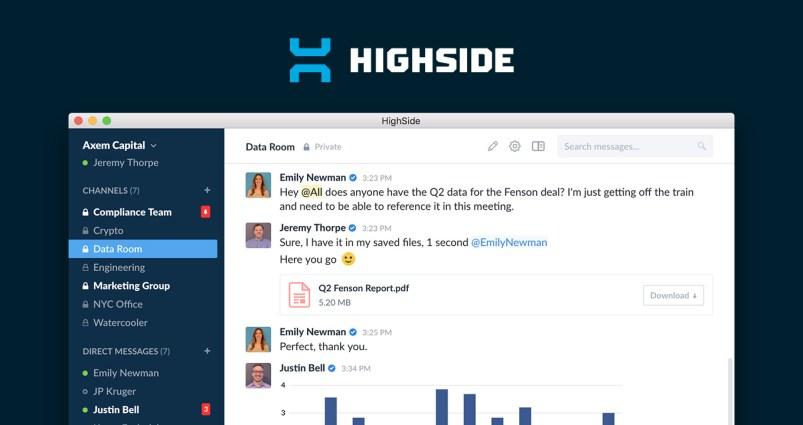 Highside makes the list of alternatives to Slack