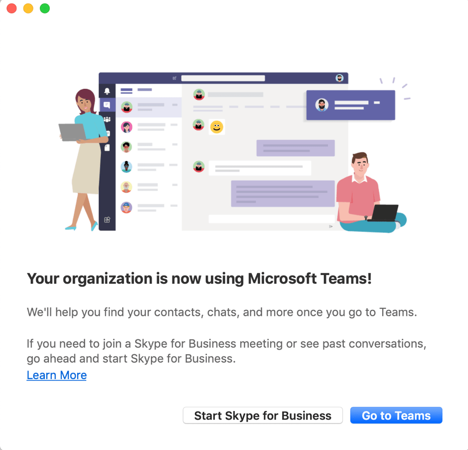 Microsoft Teams upgrade