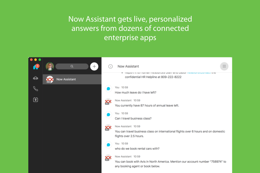 Now Assistant Webex Teams integrations