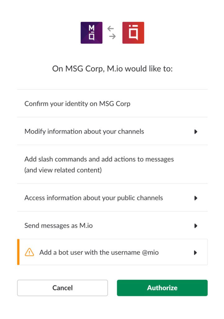 Allowing access in Mio